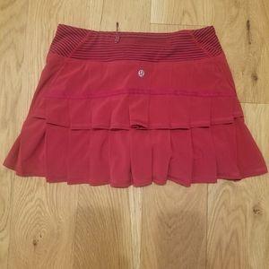Lululemon red skirt
